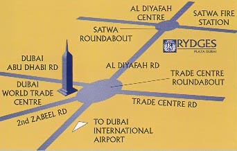 Rydges hotel dubai hotels near dubai world trade center dubai world trade centre exhibition halls and jumeirah beach map gumiabroncs Image collections